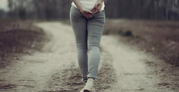 girl walk alone