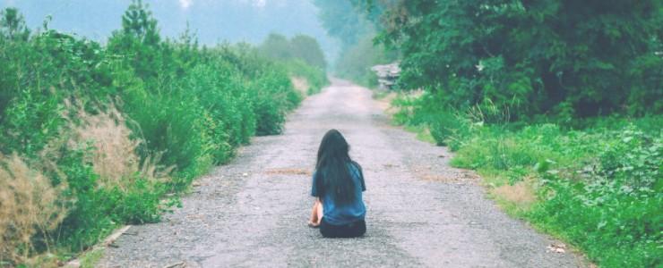 girl in road